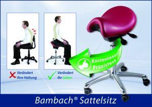 Der Bambach-Sattelsitz – Schafft Entspannung für Ihren Rücken!