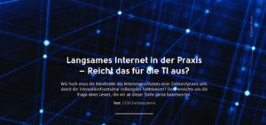 Telematikinfrastruktur – Langsames Internet in der Praxis
