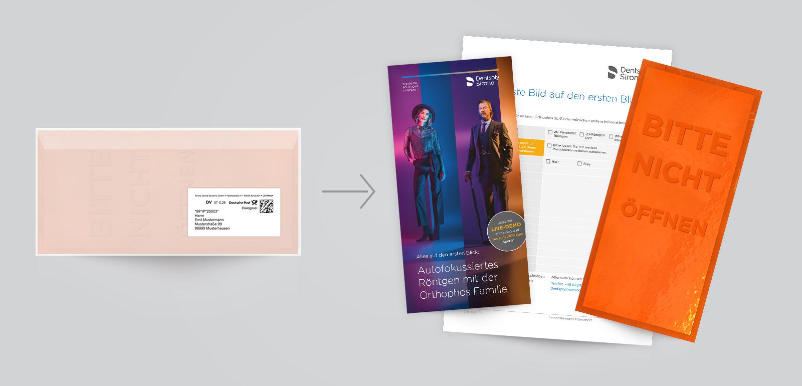 """Direct Mailing der aktuellen Röntgen-Kampagne """"Der erste Blick"""""""