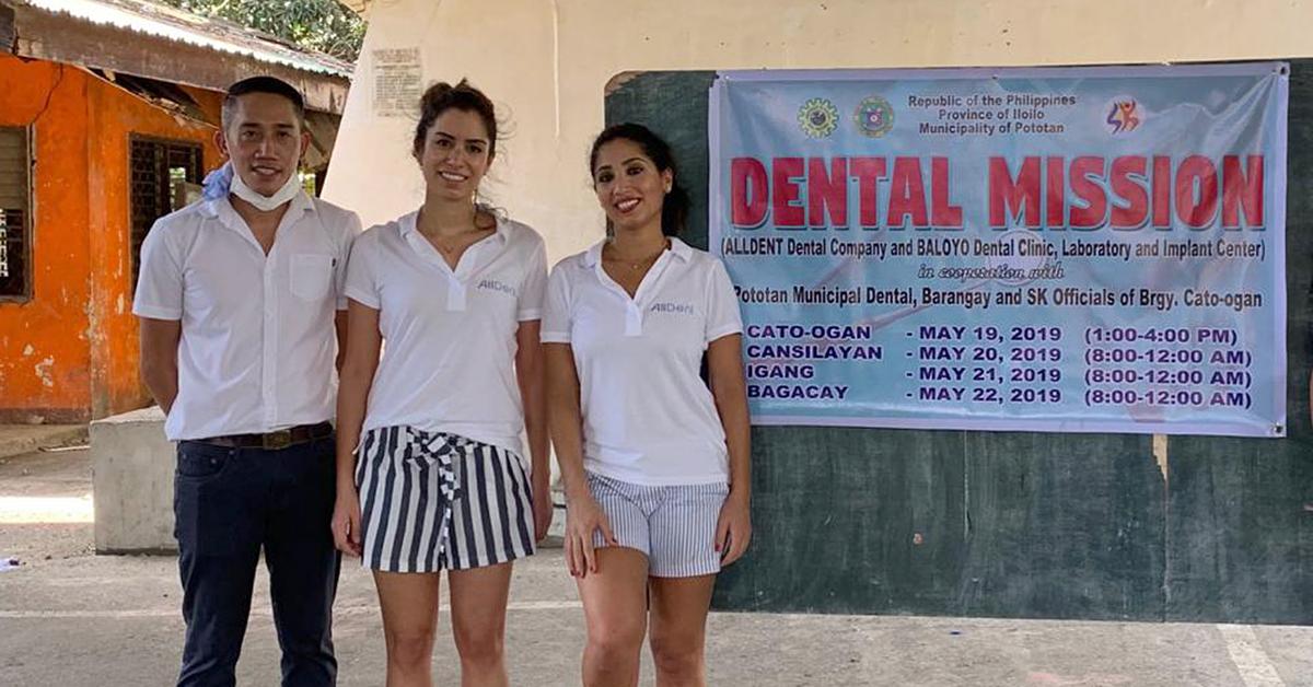 Freddie Piers und seine beiden Unterstützerinnen aus Deutschland, Negar Farzadmanesh und Mahzad Arhami auf dentaler Mission (von links)