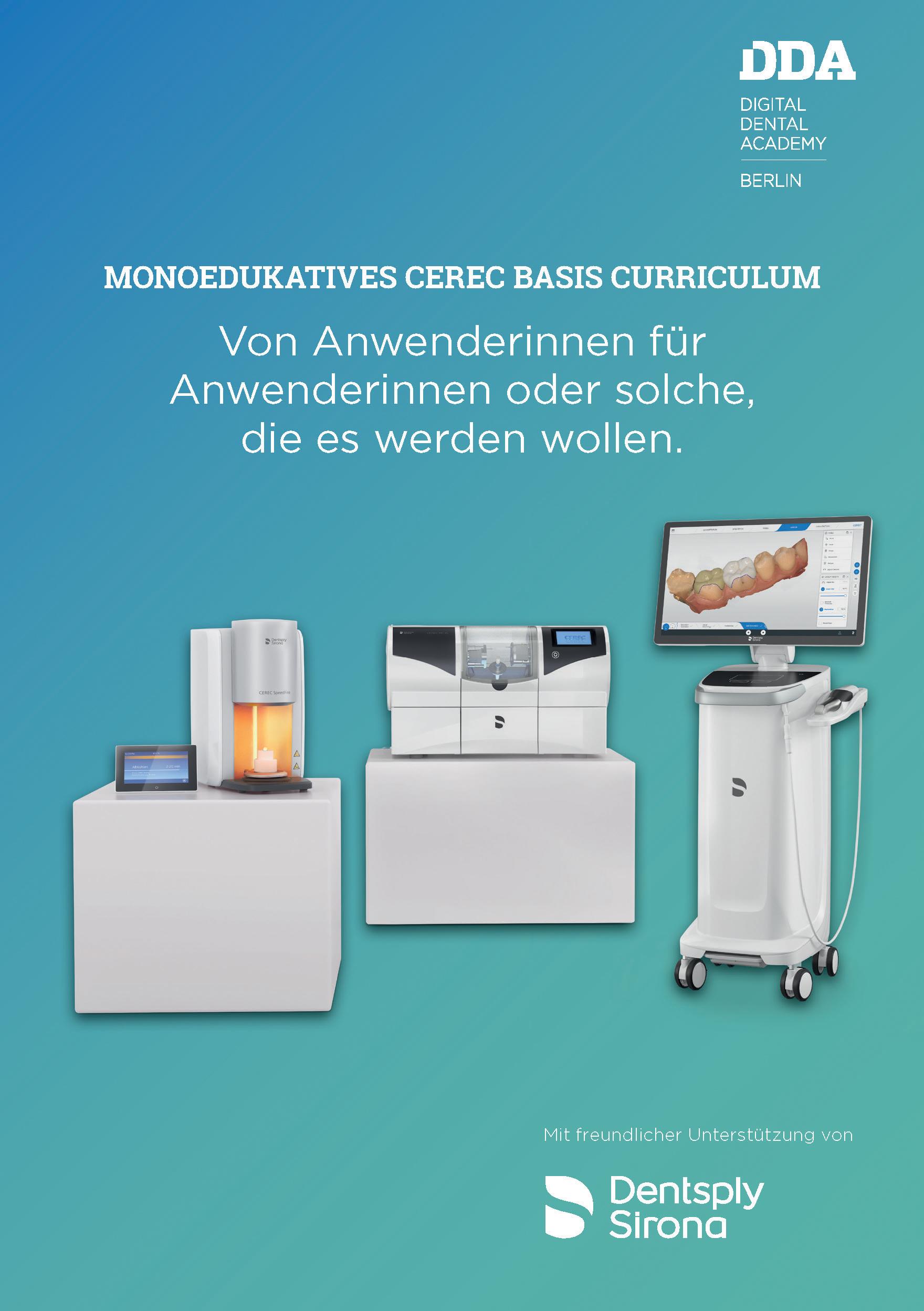 Die Programmbroschüre des CEREC Basis Curriculums enthält eine ausführliche Beschreibung der einzelnen Module.