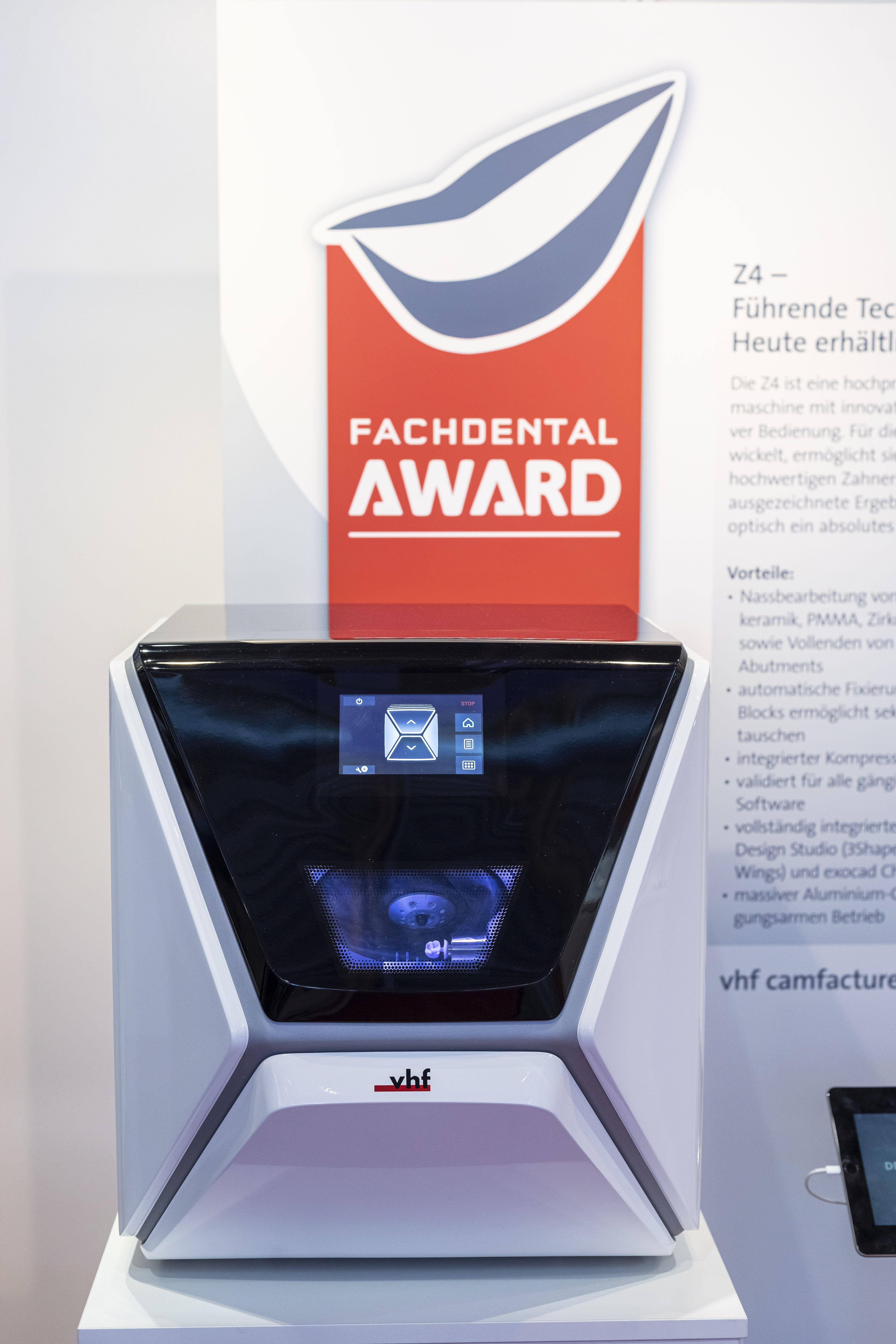 Preisgekrönt: die innovative Z4 von vhf gewinnt den diesjährigen Fachdental-Award.