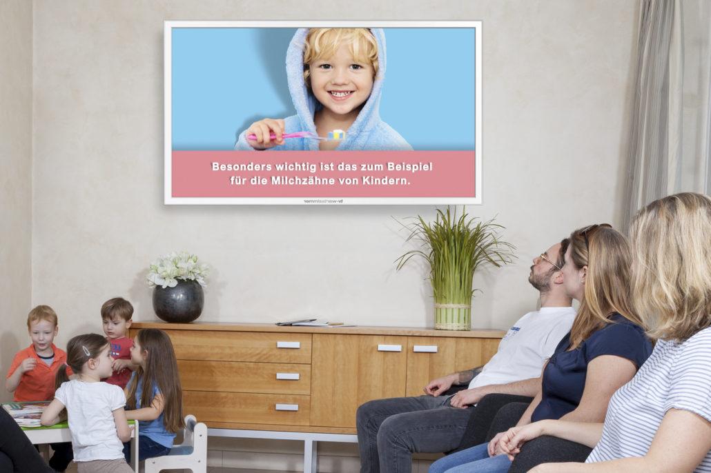 TV Wartezimmer Fluoridprophylaxe