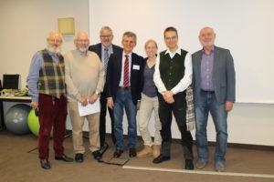 Die Referenten des 20. Lübecker hoT-Workshops v. l. P.-H. Volkmann, Dr. H. Kruse, Prof. Dr. C. Passreiter, Dr. med. dent. H.-P. Olbertz, Dr. med. K.-L. Junike, Dr. rer. nat. H.-P. Weinschenck und Prof. dr. med. dent. O. Winzen