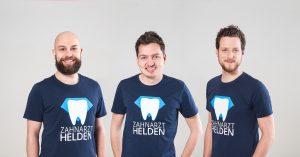 Zahnarzt Helden Gründerteam