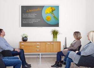 TV Wartezimmer Gesundes Leben