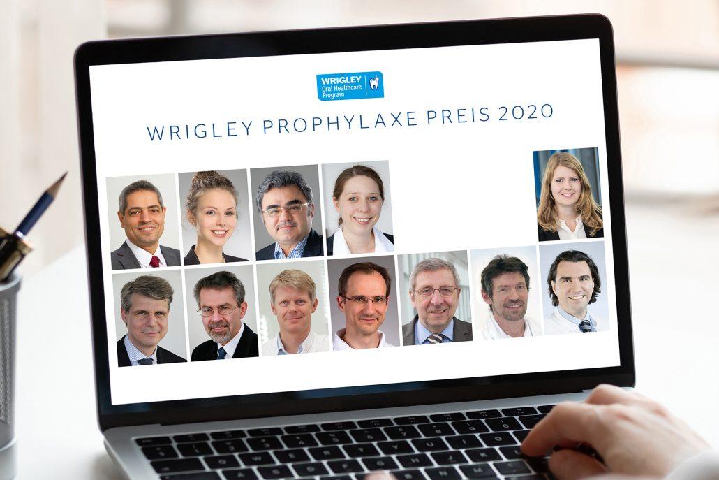 Die Preisträger: (oben v. l. n. r.) Prof. Dr. Ali Al-Ahmad (1.Platz, Freiburg), Dr. Caroline Sekundo (2. Platz, Heidelberg), Prof. Dr. Hüsamettin Günay und Dr. Karen Meyer-Wübbold (Sonderpreis, Hannover); Sponsor: (rechts oben) Nina Wenzl, Wrigley Oral Healthcare Program, Mars GmbH; Die Jury: (unten v. l. n. r.) Prof. Dr. Thomas Attin (Zürich), Prof. Dr. Werner Geurtsen (Hannover), Prof. Dr. Rainer Haak (Leipzig), Prof. Dr. Christian Hannig (Dresden), Andreas Herforth (Hamburg), Prof. em. Dr. Joachim Klimek (Gießen), Prof. Dr. Hendrik Meyer-Lückel (Bern)
