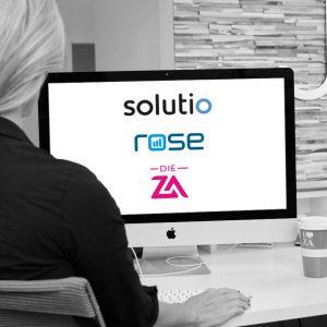 Für eine enge und langfristige Zusammenarbeit gehen Die ZA, die solutio GmbH & Co. KG und die rose GmbH zukünftig Hand in Hand.