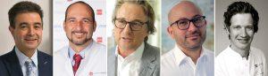 Referenten des 2. PEERS Hybrid-Kongresses (von links): Prof. Dr. Fouad Khoury, Prof. Dr. Dr. Bilal Al-Nawas, Dipl.-ZT Olaf van Iperen, Priv.-Doz. Dr. Dr. Keyvan Sagheb und Priv.-Doz. Dr. Dr. Eik Schiegnitz
