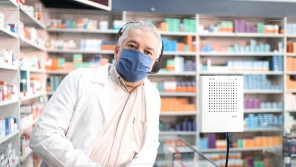 VoiceBridge ist beliebt im Einsatz in Apotheken, Impfzentren und Krankenhäusern