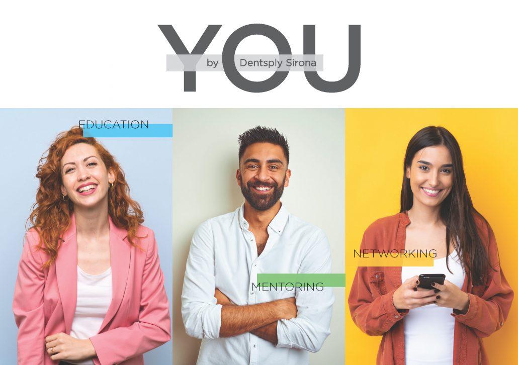 Das Visual des YOU-Programms für junge Zahnmediziner von Dentsply Sirona