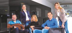 Die Mentoren des YOU-Programms (von links): Dr. Axel Otto, Dr. Verena Freier, Ana Pereira, Dr. Marco Hosang und Dr. Fabienne Oberhansl (Hans Peter Theilig fehlt auf dem Bild)
