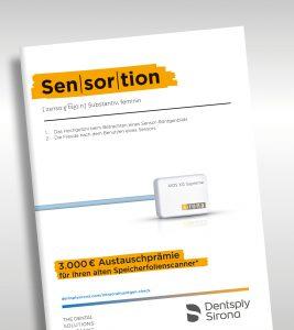 Titelseite des Flyers mit ausführlichen Informationen zur IO-Kampagne von Dentsply Sirona vom 3.5 bis 31.12.2021