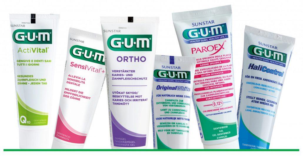 Packshot GUM® Zahnpasten