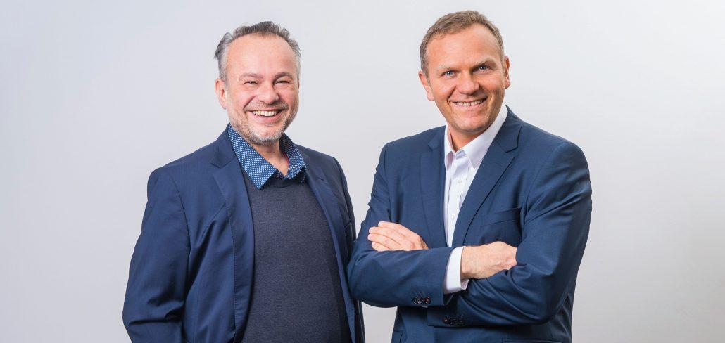 Andreas Rötger und Dr. Eduard Stappler, Dental-Experten und Gesellschafter bei Medentcon (vlnr) / coypright MEDENTCON GmbH 2021