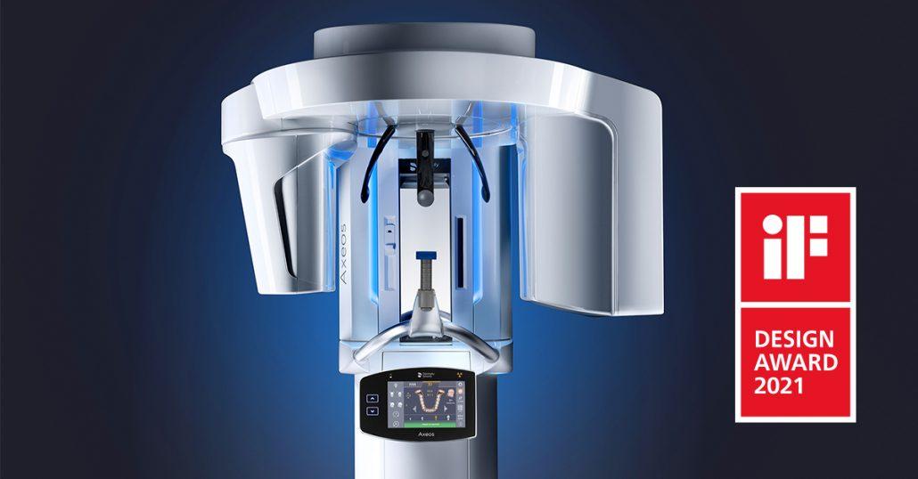 Axeos, die Bildgebungslösung von Dentsply Sirona für moderne Röntgenbildgebung, hat den iF Design Award erhalten, eine prestigeträchtige internationale Auszeichnung für die gelungene Kombination von Form und Funktion.